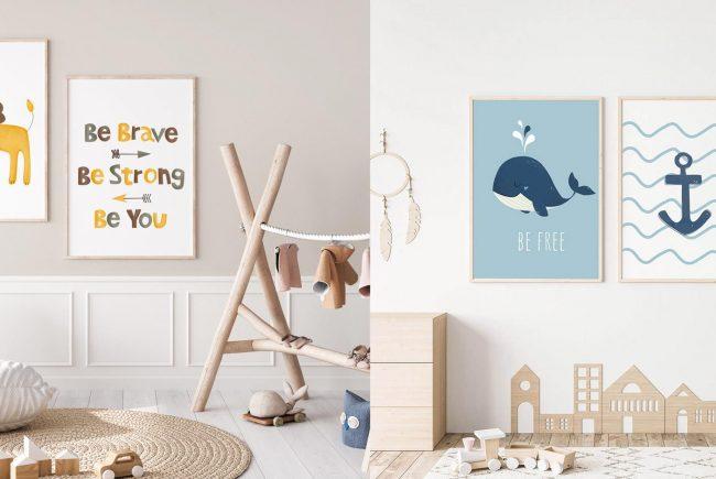 מותג בוטיק שמעצב את קירות חדר הילדים